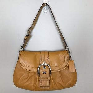 Coach Soho Pleated Leather Buckle Flap F15204